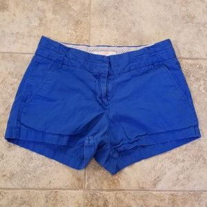 J. CREW Good Condition Distress Blue Short Shorts